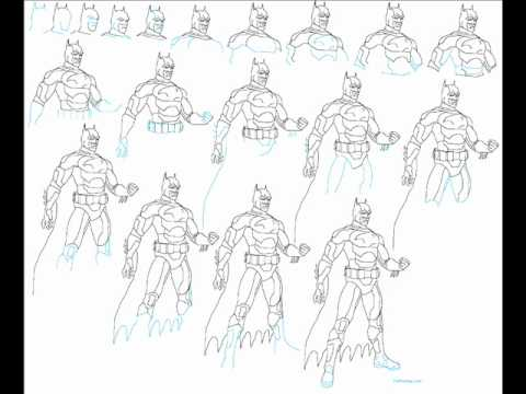 how to draw batman easy step by step