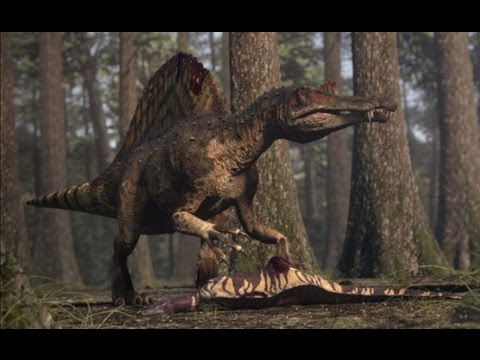 Spinosaurus vs Carcharodontosaurus - The balance of power  - Planet Dinosaur - BBC