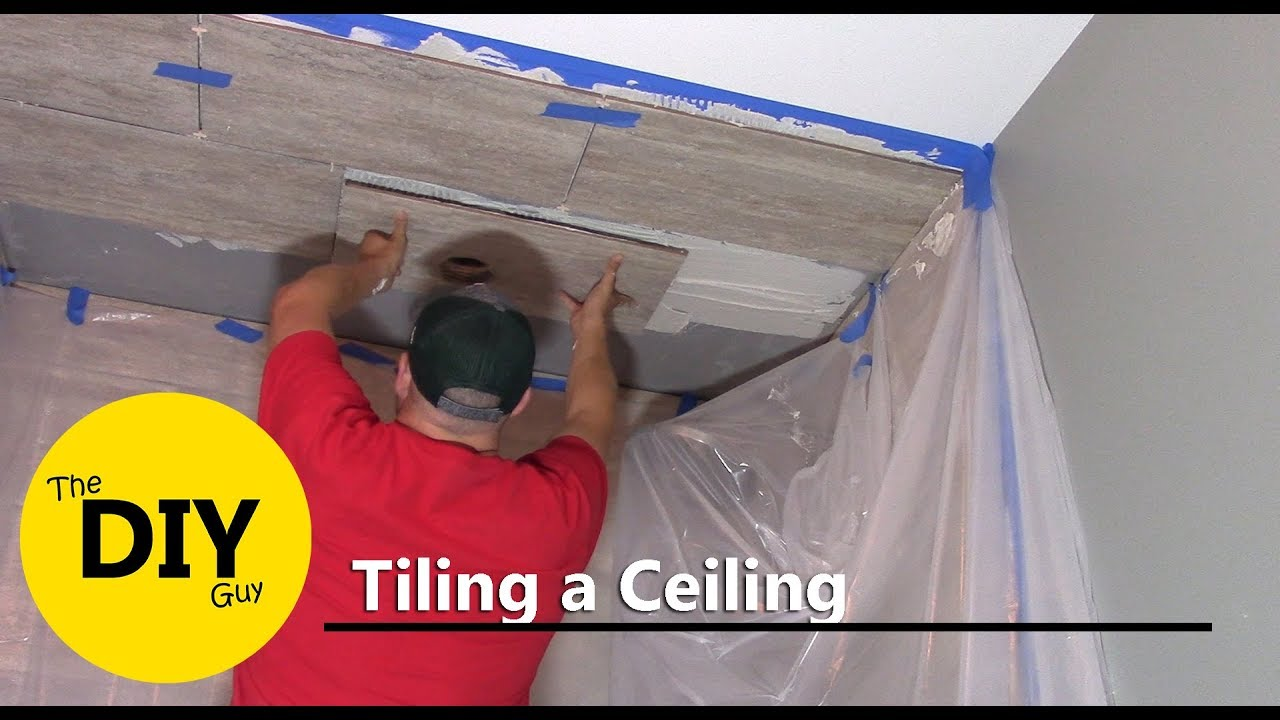 How to install tile ceiling