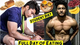 Student Full Day of Eating | Budget Indian Bodybuilding Diet - Muscle Building Student Diet Plan