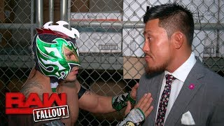 Kalisto has a stern warning for Akira Tozawa: Raw Fallout, June 12, 2017