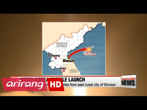 N. Korea test-fires two missiles from east coast city of Wonsan