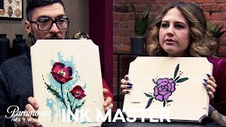 Nail Polish Art 💅 Ink Box Challenge: DJ Tambe & Katie McGowan | Ink Master