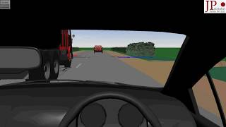 Car Overtaking Accident / 3D Rendered Driver View Video / PC Crash Accident Reconstruction