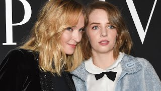 Uma Thurman and Lookalike Daughter Maya Hawke Are Fashion Goals in Paris!