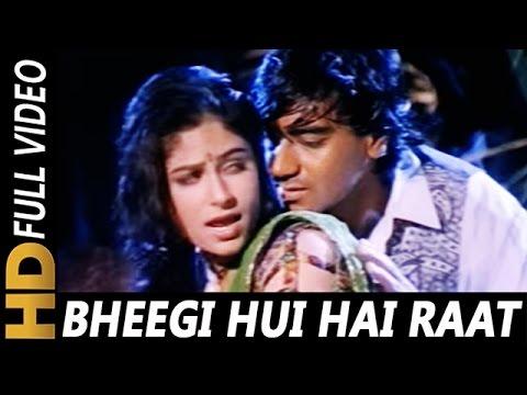 Bheegi Hui Hai Raat Magar | Kumar Sanu, Kavita Krishnamurthy | Sangram 1993 Rain Song | Ajay Devgan | Gaane sune ansune