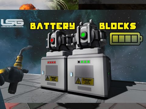 Space Engineers - Battery Blocks, Rechargeable Cells, Antenna Relay video