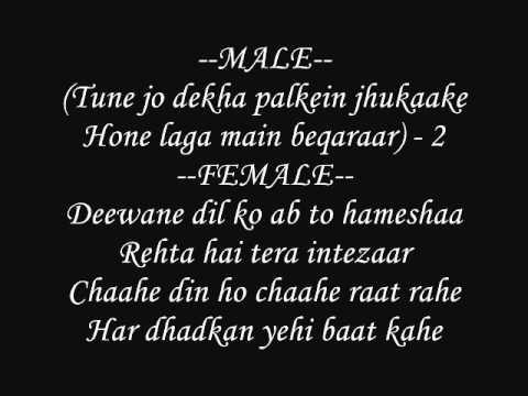 Haathon Ki Lakiron Main Likha Hai -tera Mera Saath Rahen- Lyrics video