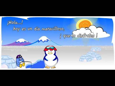 Hola Pingui - Postales Animadas de Buenos Dias