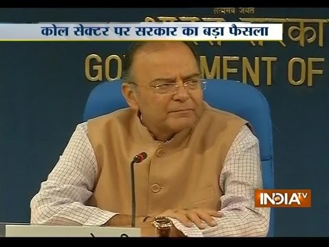 Finance Minister Arun Jaitley addressing Press conference on Coal sector Live