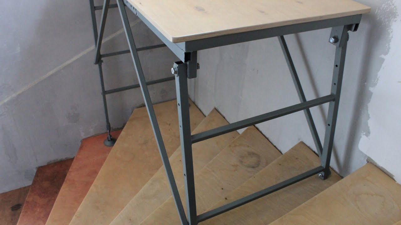 Staging or mobile workbench? Workability just what you need! DIY. - YouTube