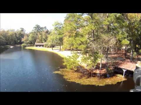 Poinsett State Park Helicopter / Quad Copter Flyover Video FPV