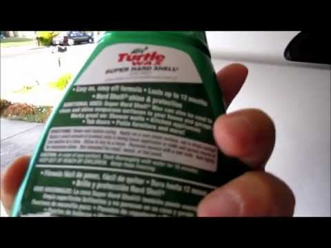 Turtlewax Super Hard Shell Car Wax Demo and Review