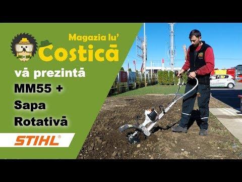 Mărunțirea solului cu Multifuncționala MM55 STIHL+ sapa rotativă