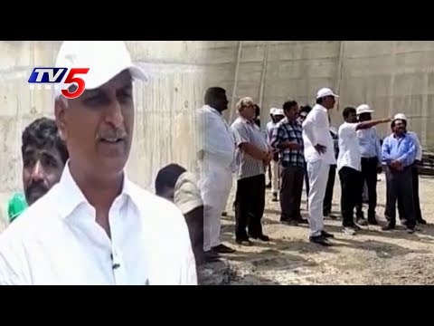 Minister Harish Rao inspects Kaleshwaram Project Works | Telangana | TV5 News