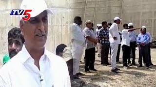 Minister Harish Rao inspects Kaleshwaram Project Works | Telangana