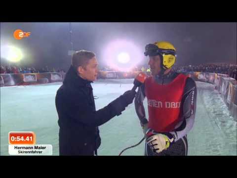 Hermann Maier vs Rennwagen (Wetten, dass...? 25.01.2014)