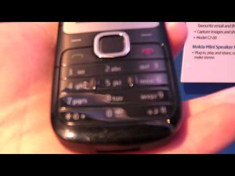 Nokia C2-00, dual SIM, quick overview at Nokia World 2010 by Test ...