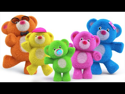 teddy bear finger family teddy bear turn around nursery rhymes kids songs kids tv S02 EP0135