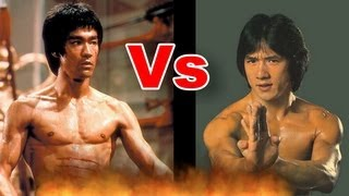 Bruce Lee vs. Jackie Chan Push up I 李小龙 - 与- 成龙