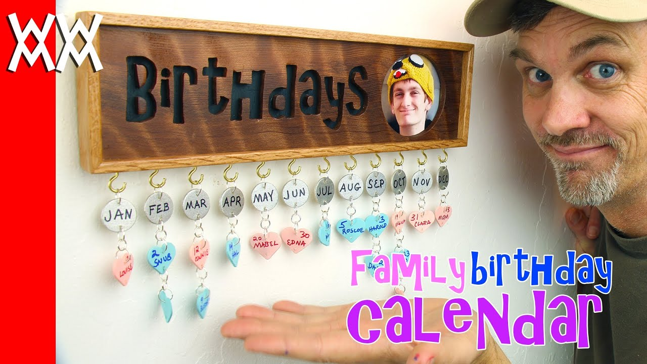 Make a family birthday calendar. Fun gift idea! - YouTube