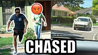 DING DONG DITCH AND PEE PRANK! BTS *EPIC CAR CHASE*