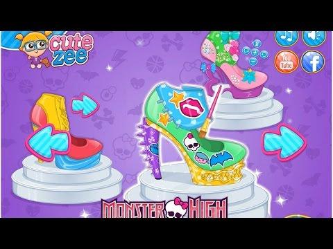 Игры для девочек дизайнер туфлей монстр хай