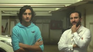 Saif Ali Khan Celebrate His 45th Birthday With Son Ibrahim Khan !!