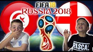 WORLD CUP 2018   ENGLAND VS TUNISIA   FIFA 18 SCORE PREDICTOR!
