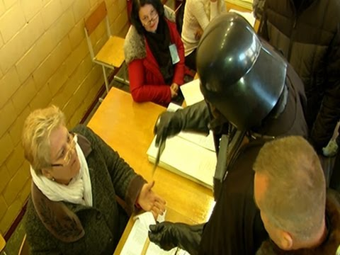 Darth Vader Turned Away From Ukrainian Polls