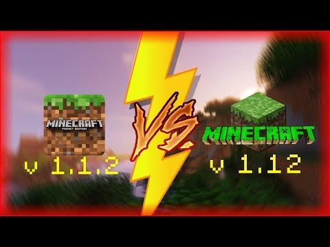 Minecraft PE 1.1.2 vs Minecraft PC 1.12