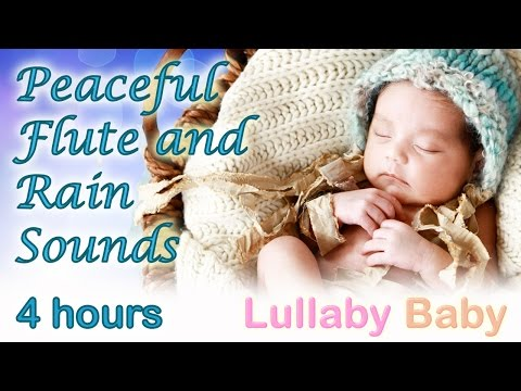 ✰ 4 Hours ✰ Peaceful Flute rain Dance ✰ Relaxing Rain Sounds ✰ Lullaby Baby Sleep Music video