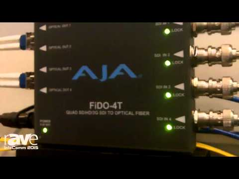 InfoComm 2015: AJA Features FiDO SDI/Optical Fiber Converter