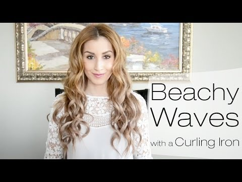 Beachy Waves Hairstyle for Everyday Using a Curling Iron   Fancy Hair Tutorial