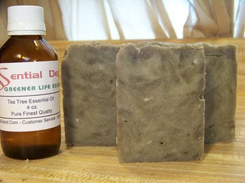 How to Make Lye Soap, Essential Oil Pine and Tea Tree Blend
