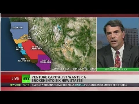 Venture capitalist wants six, smaller California states