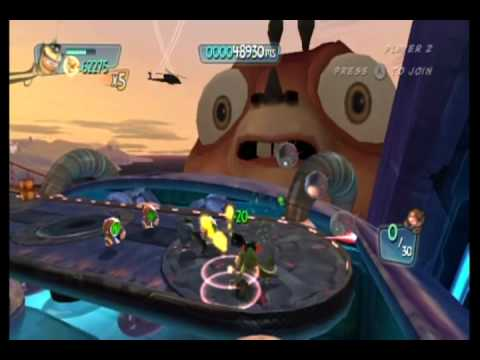 Monsters vs. Aliens Movie Game Walkthrough Part 10:2 (Wii)
