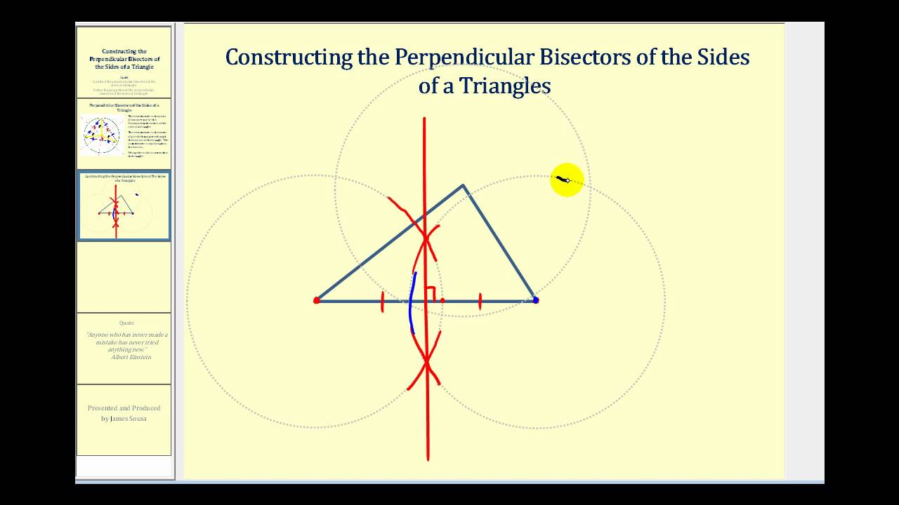 Drawing Perpendicular Lines With A Compass : Construct perpendicular bisector