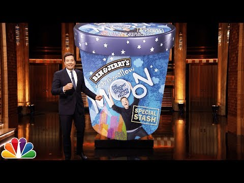 """Jimmy Unveils the New Tonight Show Ben & Jerry's """"Secret Stash"""" Flavor"""