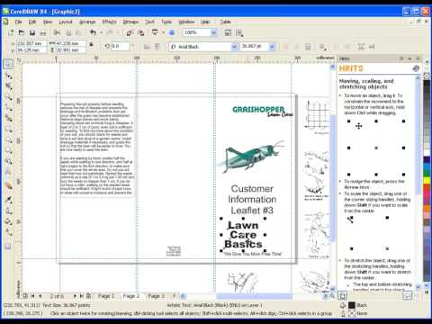 Creating a Brochure in CorelDRAW Graphics Suite X4