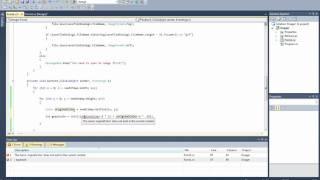 C# Advanced Tutorial Image Processing