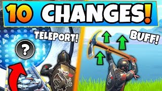 Fortnite Update: NEW TELEPORTERS + PICKAXE BUFF! - 10 Secret CHANGES in Battle Royale!