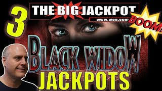 🕸️ 3 JACKPOTS in 10 MINUTES!! Back to Back BLACK WIDOW WIN$ 🕷️