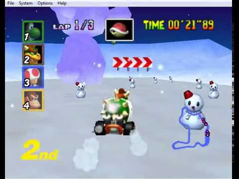 Mario Kart N64 Extracc Game Play Frappe SnowLand (Bowser)