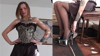 Danielas FashionCheck #040: Pumps, Korsage, Strümpfe (Corsage/Stockings/High-Heels)