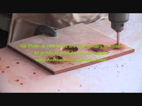 Cutting a hole in ceramic tile
