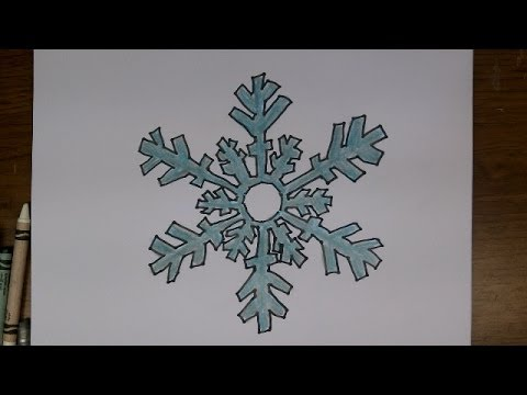 how to draw a snowflake easy steps