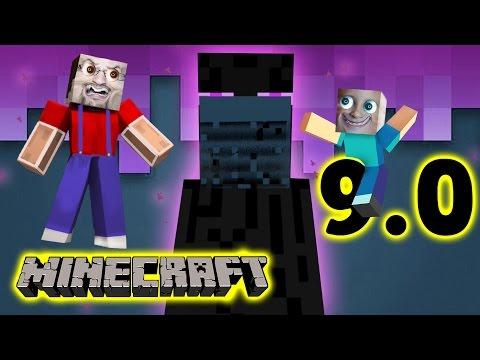Minecraft Pocket Edition 9.0: CREEPY ENDERMAN Mike Dads Multiplayer Adventure Fun