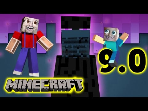 Minecraft Pocket Edition 9.0: CREEPY ENDERMAN! (Mike & Dads Multiplayer Adventure Fun)