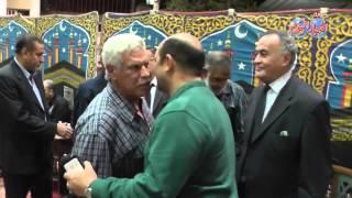 حسن شحاتة فى عزاء الكابتن زكى عثمان